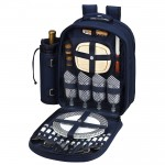 Picnic Backpack for 4 with Cooler Custom Printed