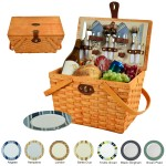 Custom Printed Frisco Picnic Basket For Two