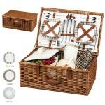 English Style Picnic Basket Set for 4 Custom Imprinted