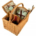 Vineyard Picnic Basket for Two Custom Printed