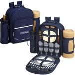 Picnic Backpack for 4 with Cooler & Blanket Logo Branded