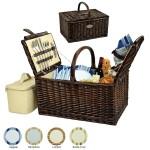 Custom Imprinted Buckingham Picnic Basket for Four