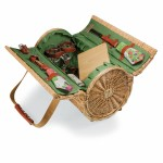 Verona Barrel Basket w/Wine & Cheese Service for 2 Custom Imprinted