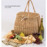 Logo Branded 4 Person Eco Picnic Basket