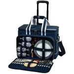 Picnic Set for 4 with Cooler on Wheels Custom Imprinted