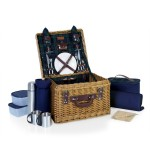 Custom Imprinted Canterbury Luxury Picnic Basket w/Deluxe Service for Two