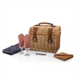 Custom Printed Napa Picnic Basket w/Service for Two