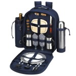 Logo Branded Picnic Coffee Backpack for 2 with Cooler