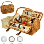 Custom Printed Sussex Picnic basket for Two