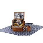 Custom Imprinted Saratoga 2 Person Picnic Basket with Blanket