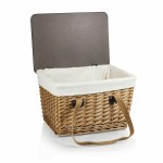 Custom Printed Canasta Grande Willow Basket w/Removable Lid and Double Handles