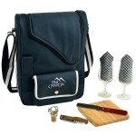 Custom Printed Deluxe Wine & Cheese Picnic Set with Glass Wine Glasses