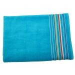 """40"""" x 70"""", 24 lb., Siesta Stripe Color Velour Beach Towel (Blank) Logo Branded"""