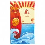 14 lb./doz. Surf Board Beach Towel Custom Imprinted