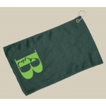 Fingertip Towel Hemmed and Grommetted 11x18 - Forest Green (Imprinted) Custom Printed