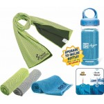Custom Embroidered Microfiber Cooling Towel with Bottle