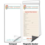 """Custom Printed 3 1/2""""x 8"""" Full-Color Magnetic Notepads - Important Phone Numbers"""