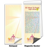 """3 1/2""""x8"""" Full-Color Magnetic Notepads - 101 Ways to Praise Your Child Logo Branded"""