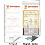"""Custom Printed 3 1/2""""x8"""" Full-Color Magnetic Notepads - Wine & Cheese Pairing Guide"""