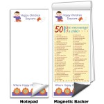 """3 1/2""""x8"""" Full-Color Magnetic Notepads - Encourage a Child Logo Branded"""
