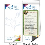 """3 1/2"""" x 8"""" Full-Color Magnetic Notepads - Pay it Forward Ideas Custom Imprinted"""