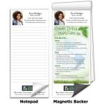 "3 1/2""x8"" Full-Color Magnetic Notepads - Living Green Logo Branded"