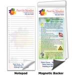 "Logo Branded 3 1/2""x8"" Full-Color Magnetic Notepads - Eco Gardening Tips"