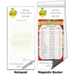 """3 1/2""""x8"""" Full-Color Magnetic Notepads - Easy Canning Reference Chart Custom Printed"""