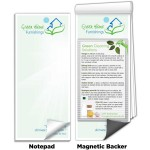 """3 1/2"""" x 8"""" Full-Color Magnetic Notepads - Green Cleaning Solutions Logo Branded"""
