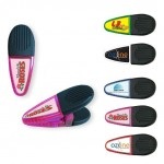 Personalized Magnetic Memo Holder Clips. Full color epoxy dome personalization. Logo Branded
