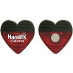 Heart Shape Magnetic Clip Custom Imprinted