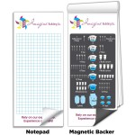 """Custom Printed 3 1/2"""" x 8"""" Full-Color Magnetic Notepads - Kitchen Measurements"""