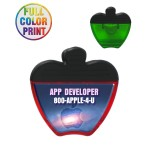 Apple Shaped Magnetic Memo Clip - Full Color Custom Printed