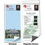 """3 1/2"""" x 8"""" Full-Color Magnetic Notepads - ABC's of CPR Custom Imprinted"""