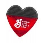 Heart Shaped Magnetic Memo Clip Custom Printed