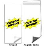 "Custom Printed 3 1/2""x8"" Full-Color Magnetic Notepads - Custom Design"