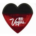 Custom Printed Heart Shape Memo Holder/Clip