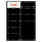 Magnetic Dry Erase Whiteboard Sheet for Fridge Custom Printed