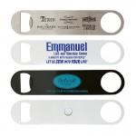 Paddle Style Bottle Opener w/Magnet Logo Branded
