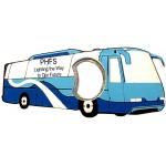 Promotional Jumbo Size Bus Shape Magnetic Bottle Opener