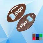Custom Printed Football / Soccer Shaped Magnetic Bottle Opener