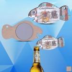 Fish Shaped Magnetic Bottle Opener Logo Branded