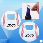 Baseball Shaped Bottle Opener Custom Imprinted