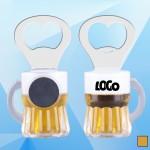 3 1/2'' Magnetic Beer Mug Bottle Opener Custom Printed