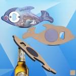 Custom Printed Dolphin Shaped Magnetic Bottle Opener