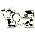 Cow Shape Magnetic Bottle Opener Custom Printed
