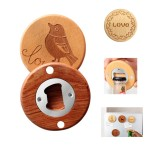 Personalized Wooden Bottle Opener W/Refrigerator Magnets Custom Imprinted