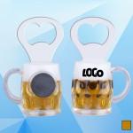 Logo Branded 3 1/2'' Magnetic Beer Mug Bottle Opener