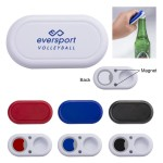 Custom Imprinted Traditional Twist Cap Bottle Opener w/Magnet (CLOSEOUT)