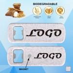 Biodegradable Bottle Opener w/ Magnet Logo Branded